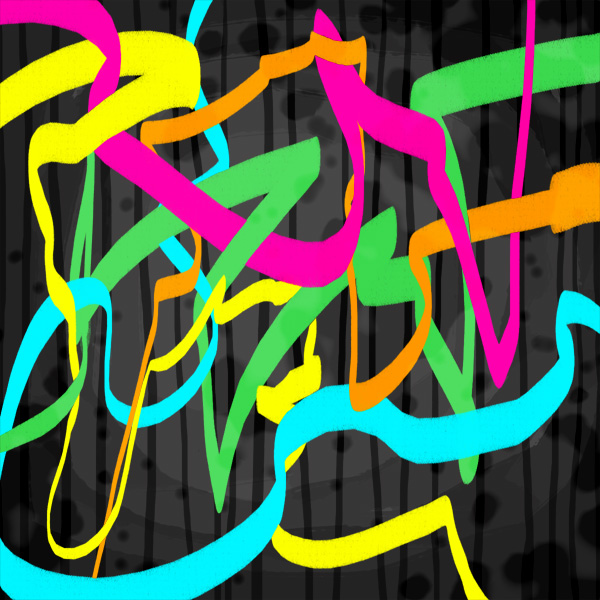 music painting Holiday Rap neon abstract