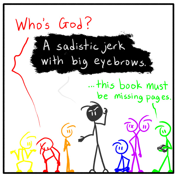 weekly stickman webcomic Out of the Box 142 It's In The Book Of Mark