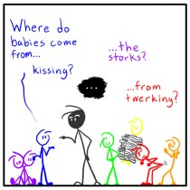 weekly stick figure web comic Out of the Box 145 The Sticks And The Bees