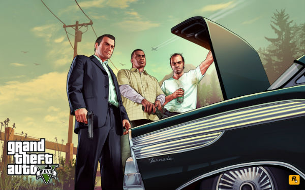GTA V characters staring into trunk