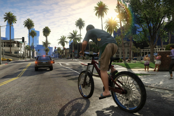 GTA V bicycle riding