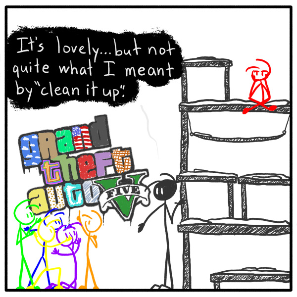 Out of the Box weekly web comic 149 GTA Graffiti Graffiti