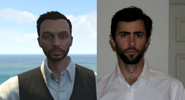 Mark Mushakian and character avatar from Grand Theft Auto Online