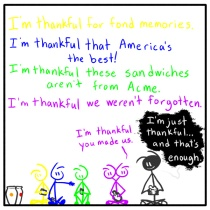 Out of the Box stick figure web comic158 I Am Thankful For
