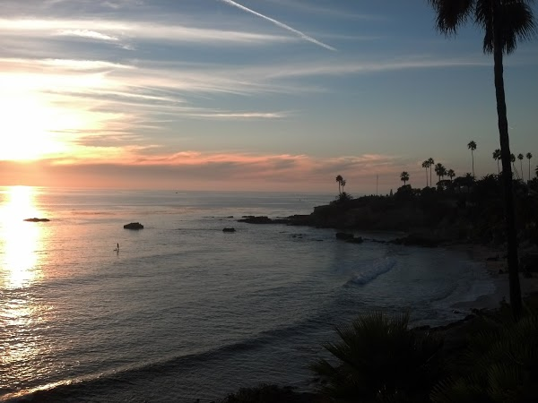 Ocean sunset view from Heisler Park Laguna Beach