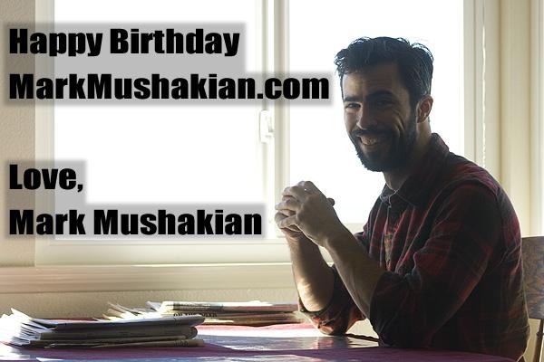 Mark Mushakian anniversary card