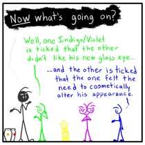 Out of the Box weekly stick man web comic 160 Cut Out Your Eye To Spite Your Other Head
