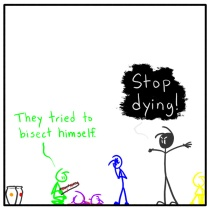 Out of the Box weekly stick figure web comic 161 y G. B
