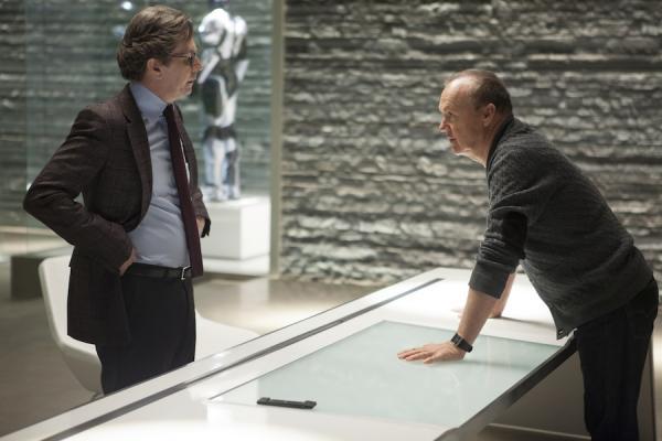 Gary Oldman and Michael Keaton in RoboCop