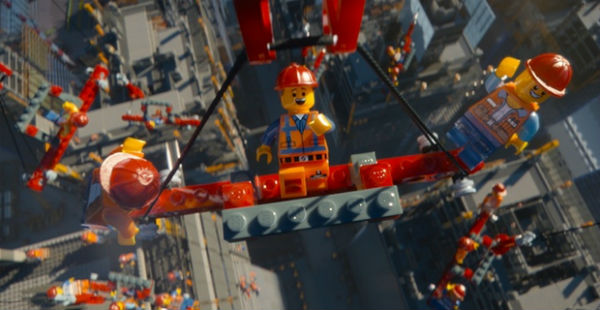 Lego movie still construction workers