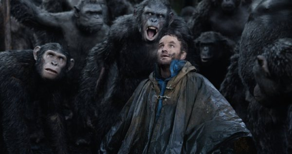 Dawn of the Planet of the Apes scared human