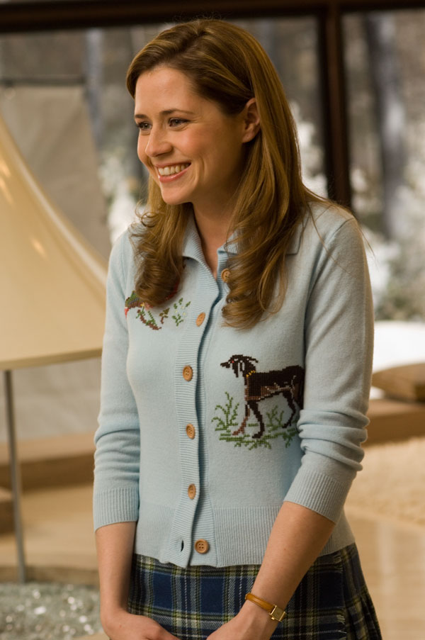 Jenna Fischer cute smile dog sweater