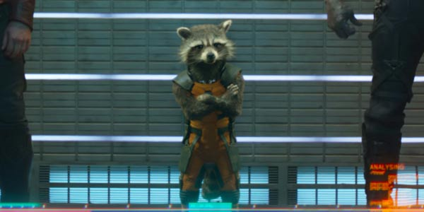 Rocket Racoon in Guardians of the Galaxy