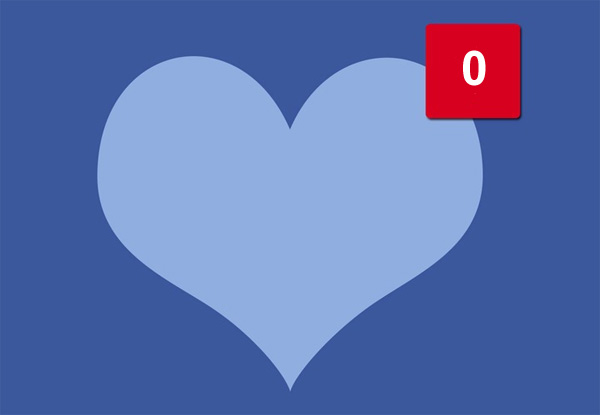 Facebook relationship heart 0