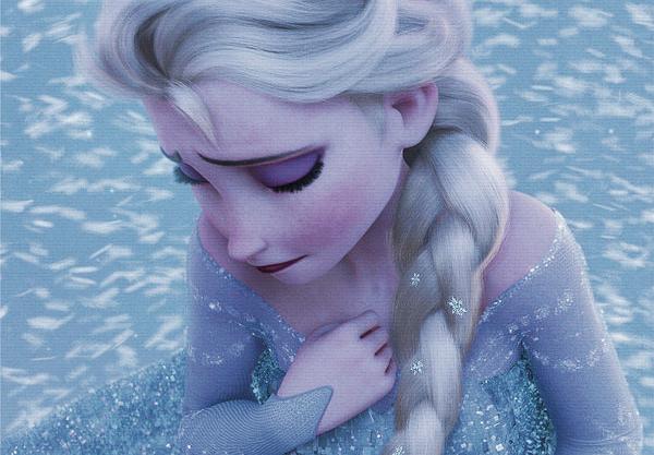 Elsa from Frozen storm inside