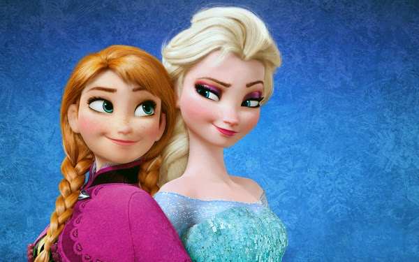 Anna and Elsa in Frozen promo