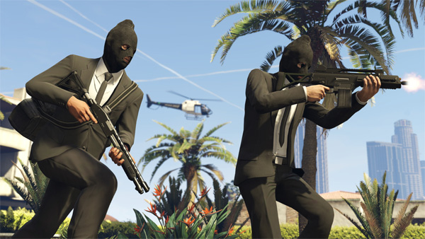 Grand Theft Auto Online heists criminals in masks