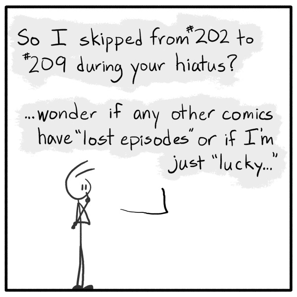 weekly stickman web comic Out of the Box 209 Airquoted