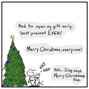 Out of the Box weekly stick figure web comic Christmas 212 Hey Dog
