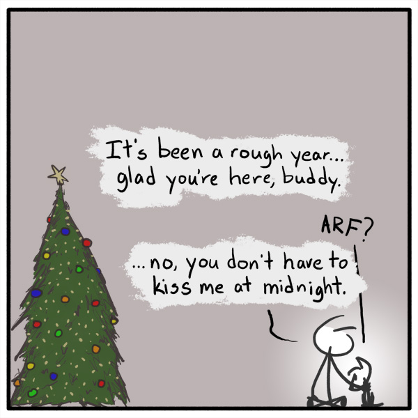 Out of the Box weekly stick figure web comic New Year's 213 Old Year, New Start