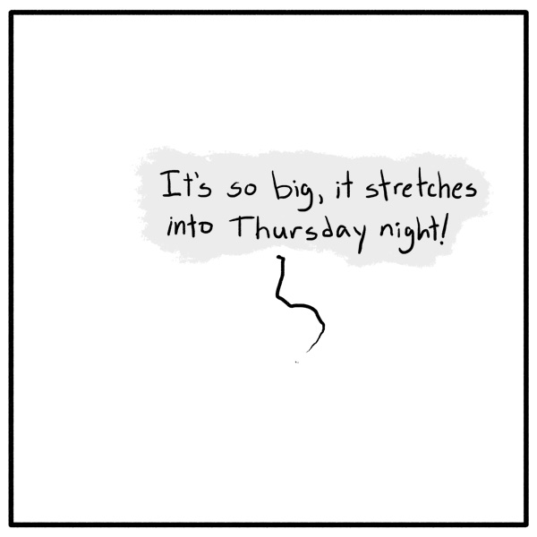 Out of the Box weekly stickman comic panel 222 That's What She Said