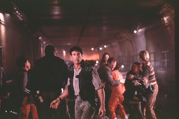 Stallone and group in Daylight movie
