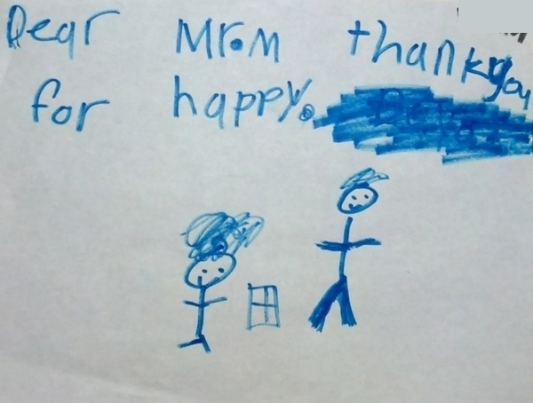 Child thank you for happy goodbye card