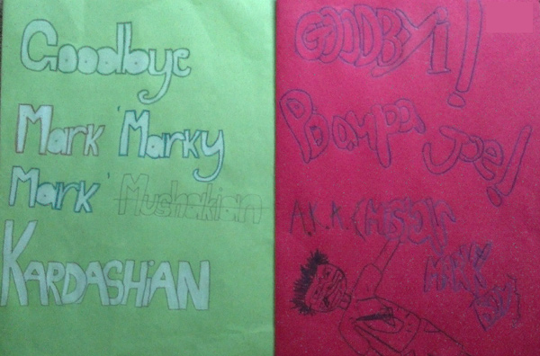 Middle school goodbye cards