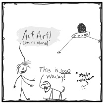 Out of the Box weekly stick figure web comic 226 Adorable April Fools