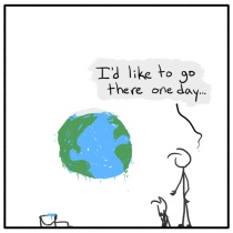 Out of the Box weekly stick figure web comic Earth Day 2015 229 Nicer Than Mars