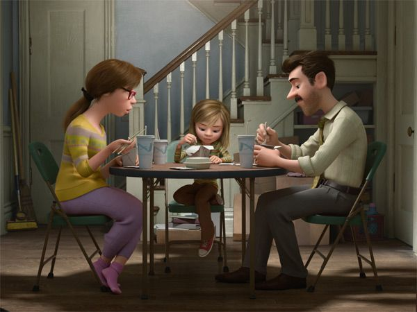 Inside Out dinner scene with parents