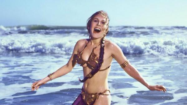 Princess Leia slave outfit at beach