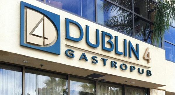 Dublin 4 Gastropub exterior sign