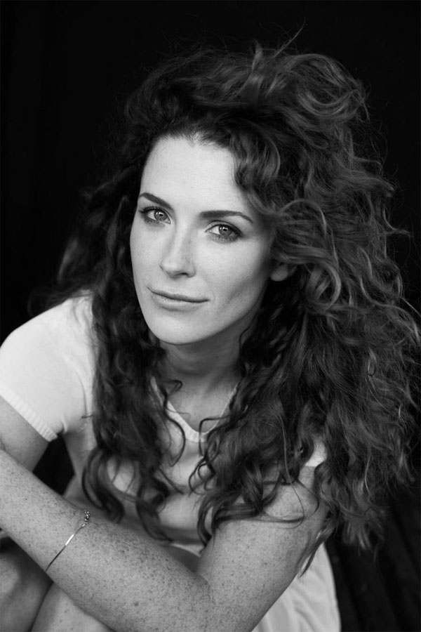 Bridget Regan black and white curly hair