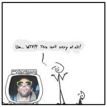 Out of the Box weekly stickman web comic 253 Random Non-Beauty
