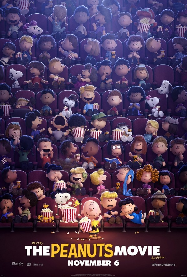 Peanuts movie characters theater poster