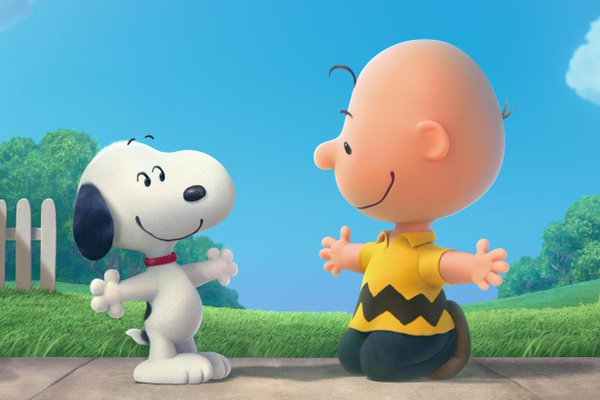 Snoopy and Charlie Brown in Peanuts Movie