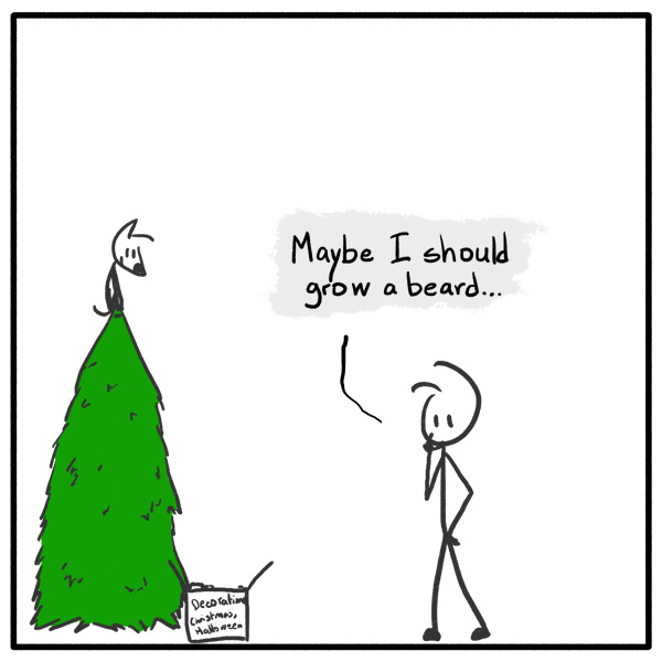 Out of the Box weekly stickman web comic 263 Decembeard