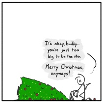 Out of the Box weekly stickman web comic Christmas 264 Look At Me ...CRASH