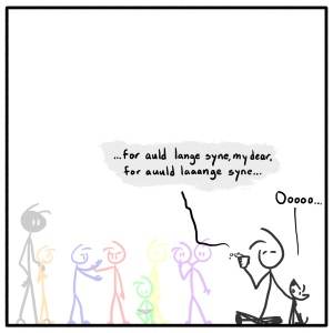 Out of the Box weekly stick figure web comic 265 We'll Take A Cup of Kindness Yet