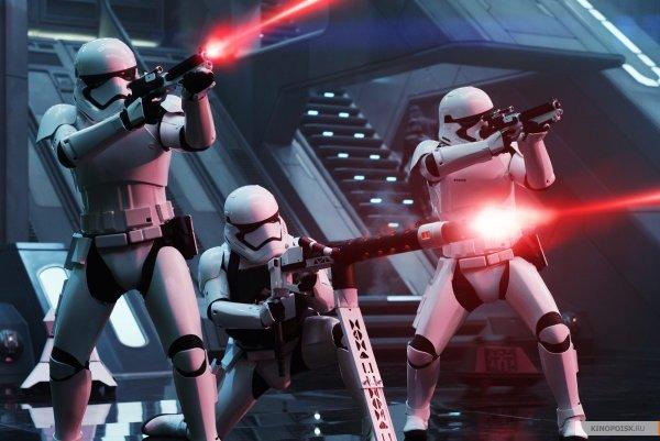 Stormtroopers shooting Force Awakens