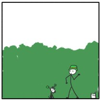 Out of the Box weekly stickman web comic St Patrick's Day 276 Needs More Green