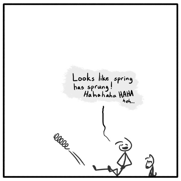 Out of the Box weekly stick man web comic 277 Very Punny, Davey