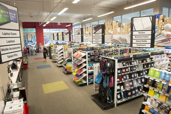 Office Depot interior aisles