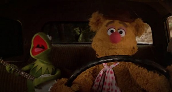 Kermit and Fozzie from Muppet Movie movin right along