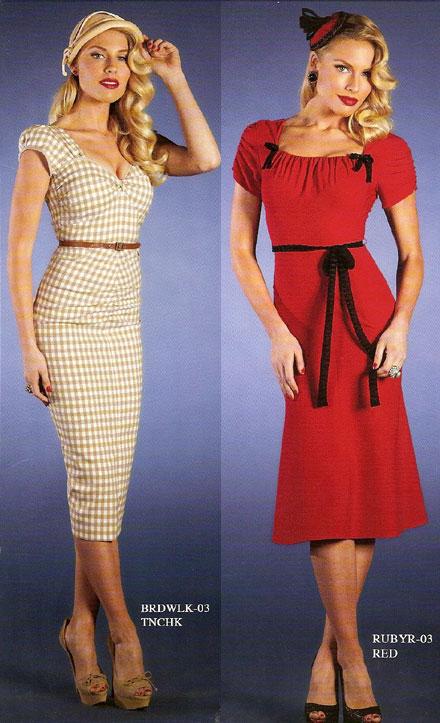 retro 40's style dresses
