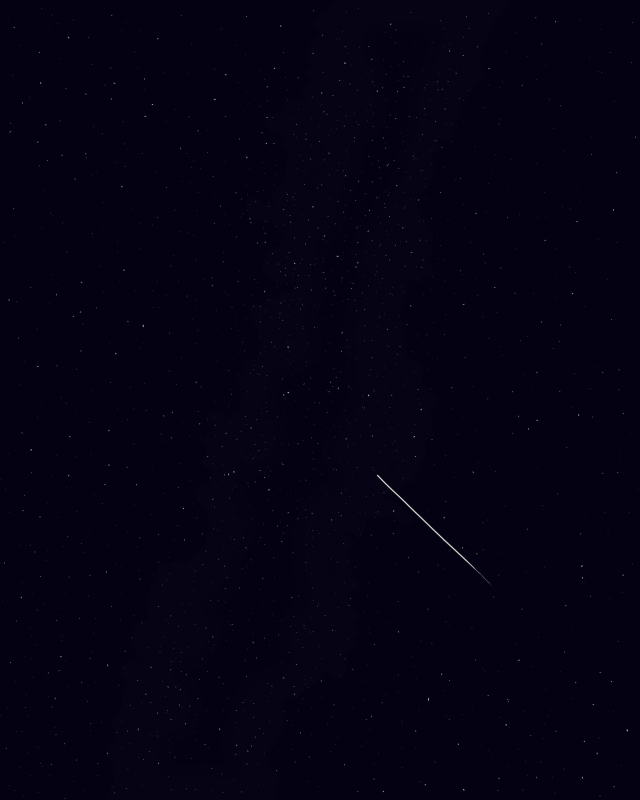 digital painting stars perseid meteor shower