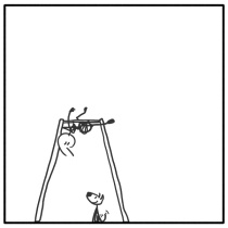 Out of the Box weekly stick man web comic 303 Lil' Help?