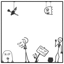 Out of the Box weekly stick man web comic 306 Slow Clap