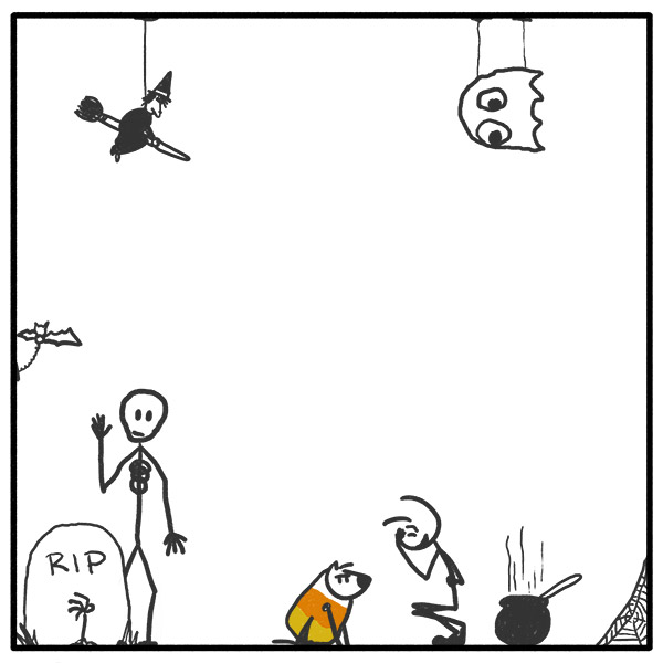 Out of the Box 307 weekly stick man web comic Cand Corn-larious